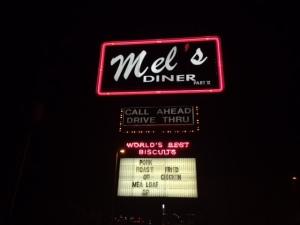 Mel's Diner sign